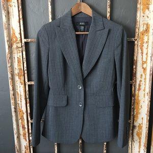 Body By Victoria Pinstriped Blazer/Jacket Size 6